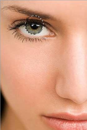 Как изменить цвет глаз в фотошопе 1