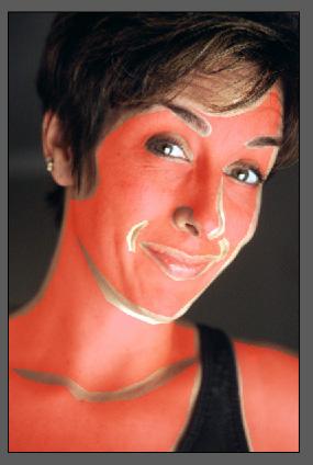 Простая ретушь лица 5