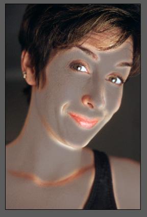 Простая ретушь лица 6