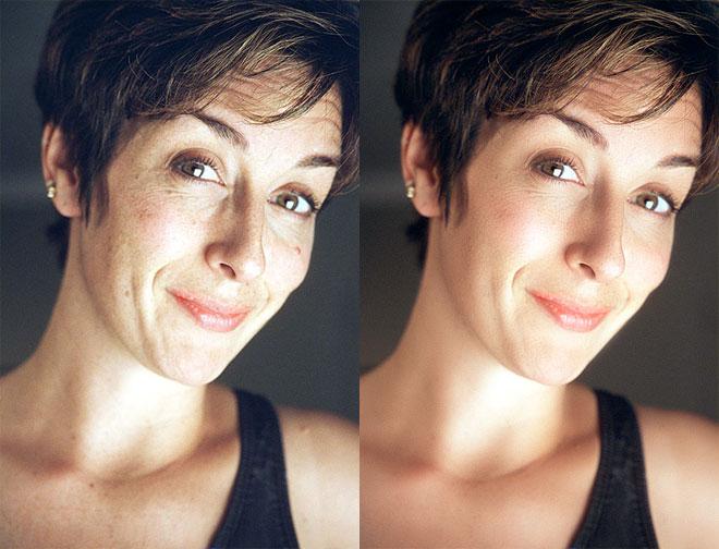 Простая ретушь лица